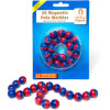 Shaw Magnet Pole Marbles Red & Blue Pack of 20