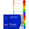 Avery Readyindex Plastic A4 1-10 Tab Numbered & Printable Cover Sheet
