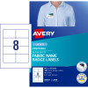 Avery Fabric Name Badge Labels L7418 Laser 86.5x55.5mm 120 Labels, 15 Sheets
