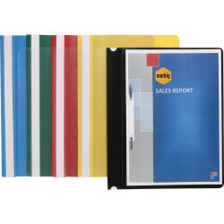 Marbig Polypropylene Flat File A4 With Clear Front Yellow