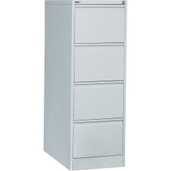 Go Steel 4 Drawer Filing Cabinet 1321Hx460Wx620mmD Silver Grey