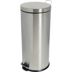 Compass Round Pedal Bin Stainless Steel 30 Litres