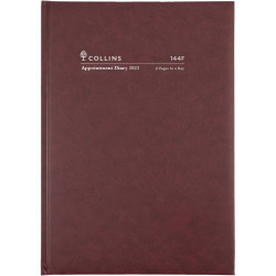 Collins Appointment Diary A4 2 Pages To A Day 2022 Early Edition Burgundy